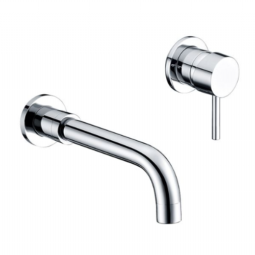 Abacus Iso Wall Mounted Basin Mixer Tap - Chrome